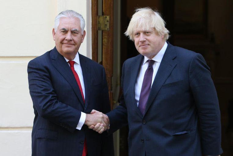 Rex Tillerson en Boris Johnson. Beeld anp
