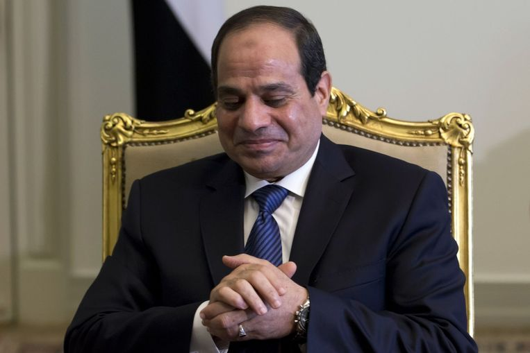 De Egyptische president Abdel Fattah al-Sissi reageerde vandaag fel op de aanslag.