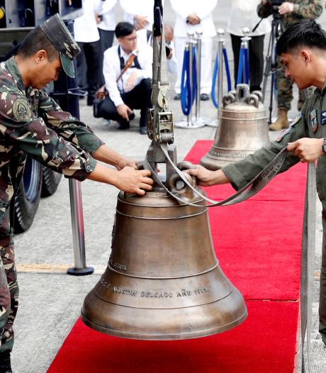 Filipijnen krijgen eeuw na bloedbad door VS geroofde kerkklokken terug