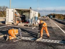 A77 wordt komend weekend compleet afgesloten, werk is bijna halverwege