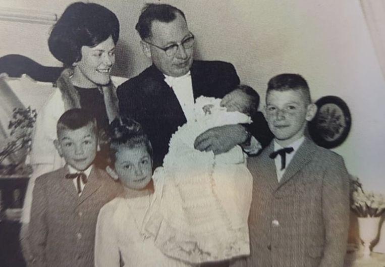 Brigitta Simoens en haar gezin.