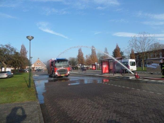 De nieuwe brandweerwagen.