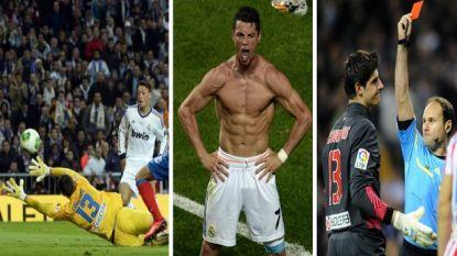 De Madrileense derby's van Thibaut Courtois: wereldsave in bekerfinale, boeman Ronaldo en meteen rood