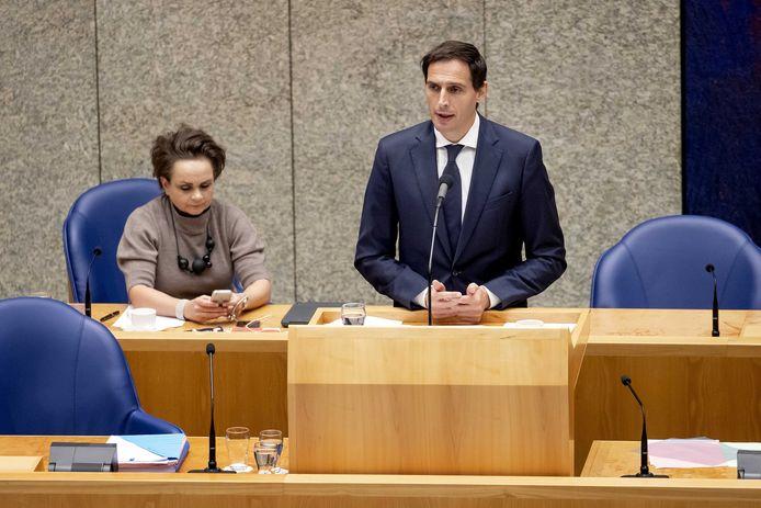 Minister Wopke Hoekstra van Financiën in de Tweede Kamer.