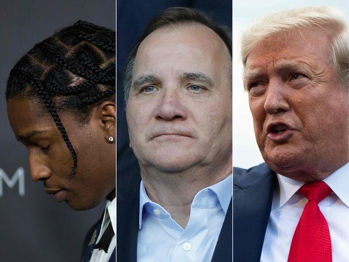 L'affaire a généré des tensions diplomatique entre les deux pays (ASAP Rocky, le Premier ministre suédois Stefan Lofven et Donald Trump)