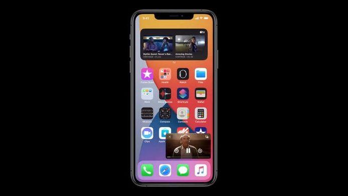 Picture-in-picture: voortaan kan je video blijven kijken terwijl je apps gebruikt.
