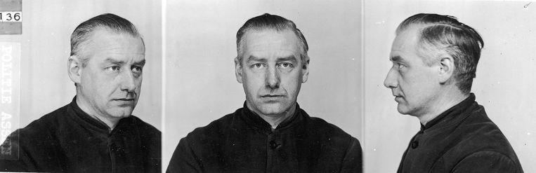 Foto uit het politiearchief, gemaakt na de arrestatie in mei 1945 Beeld Archief Herinneringscentrum Kamp Westerbork/NIOD