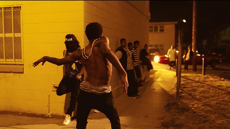 Still uit de videoclip die Kahlil Joseph maakte voor Flying Lotus. Beeld