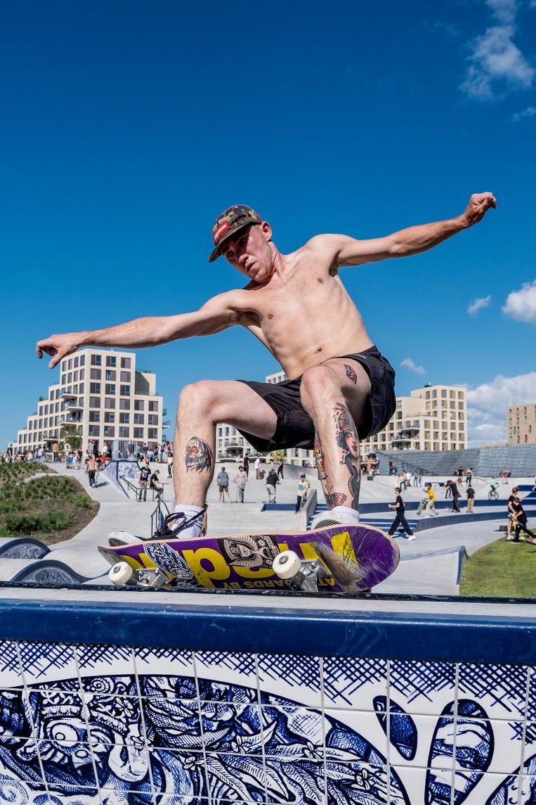 Skatepark Urban Sport Zone in Amsterdam.  Beeld Patrick Post