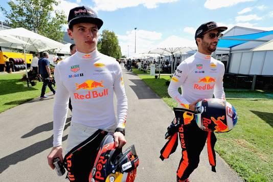 Max Verstappen en Daniel Ricciardo.