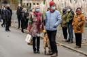 De actie had bekijks. De actie was vooraf aangevraagd bij de stad Kortrijk. De politie hield discreet een oogje in het zeil.