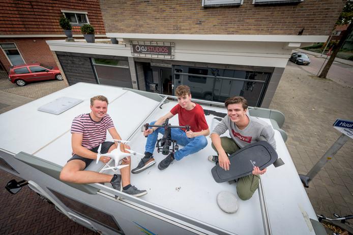 Jort Martens, Jeppe Hellegers en Bram Agterbos.