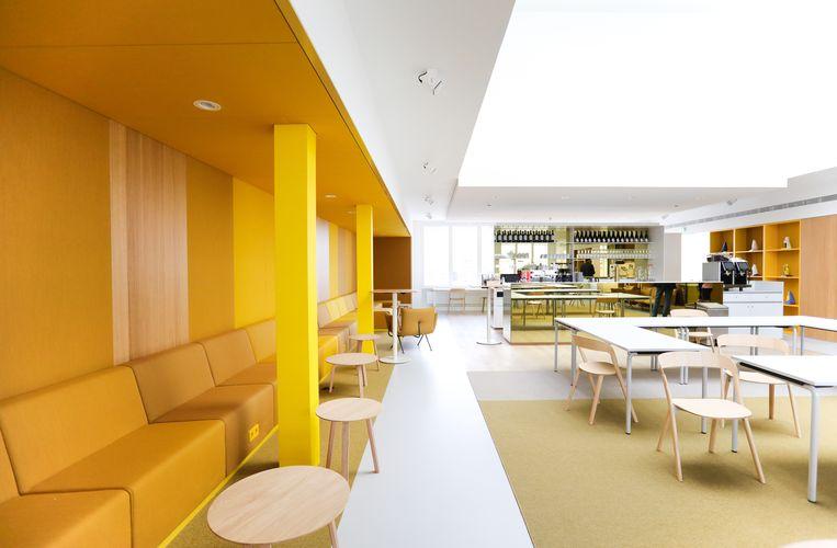 De naar architect Jacob Otten Husly vernoemde lounge mikt op feesten. Beeld Eva Plevier