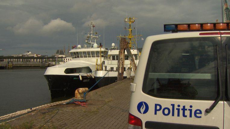 De transmigranten werden met de Sirius naar de haven van Oostende gebracht.