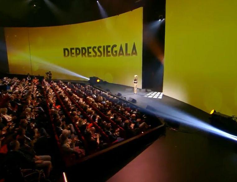 Het Depressiegala in 2017. Beeld screenshot KRO-NCRV