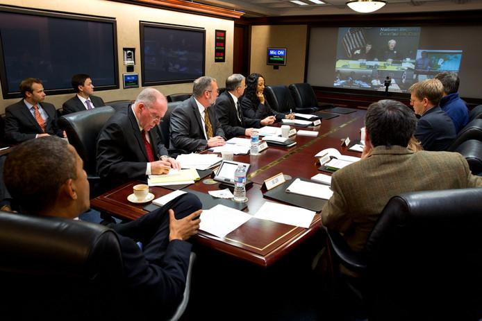 Foto van de 'Situation Room'.