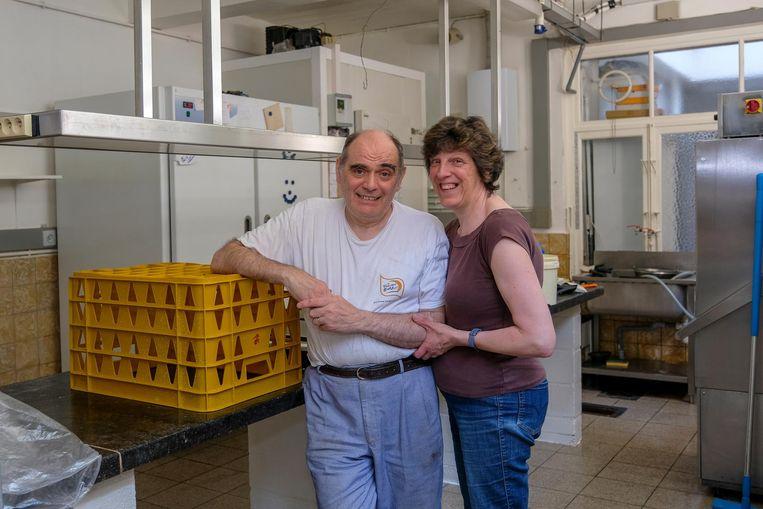 Bakker Hubert Jooris en zijn vrouw Georgette.