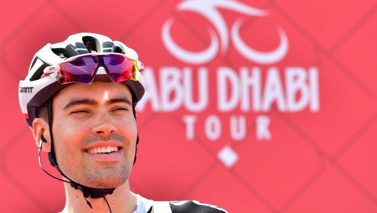 Tom Dumoulin tijdens de Ronde van Abu Dhabi. Beeld afp