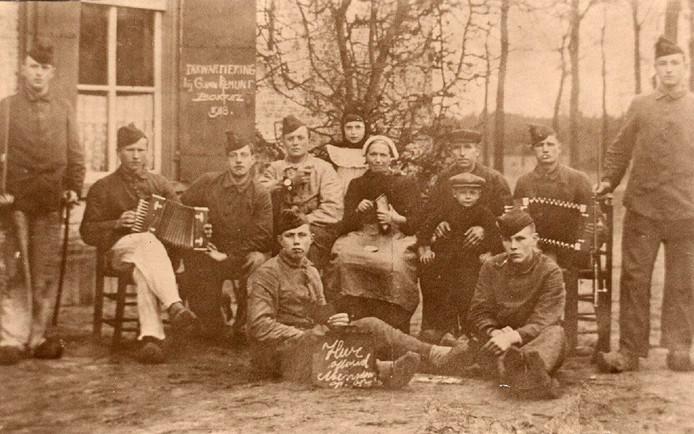 Inkwartiering bij familie Van Remunt anno 1918.