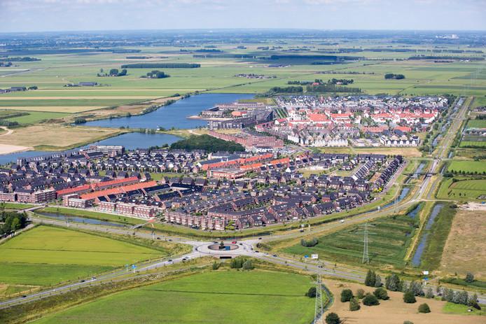 De Groote Wielen in Rosmalen, linksonder bij de plas komt de nieuwe buurt De Lanen. Het laatste deel  (Noordoosthoek) komt linksboven aan de plas.