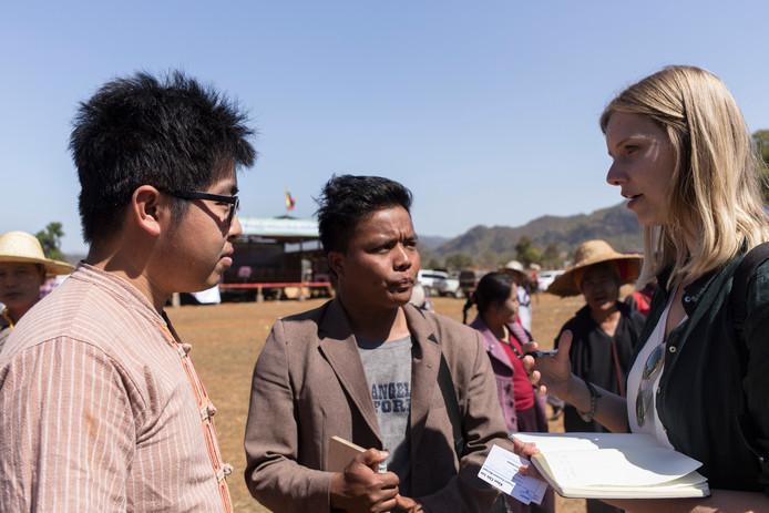 Anrike Visser op pad voor één van haar reportages