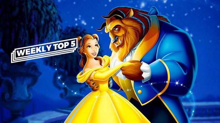 Beauty and the Beast, een zeer bekende Disneyfilm... maar niet de meest succesvolle.