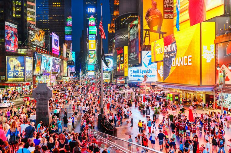 Billboards op Times Square, 2012 Beeld Getty Images