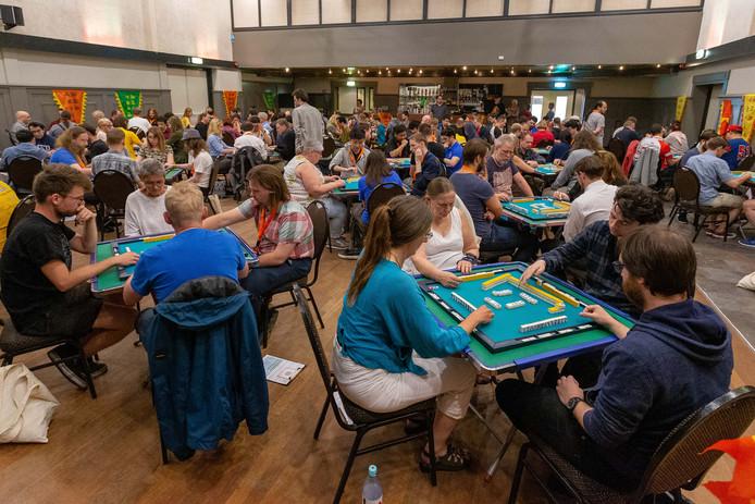 ROSMALEN, 23-06-2019, De Kentering, bordspel, Finale EK Riichi, spelers tijdens de EK finale Riichi