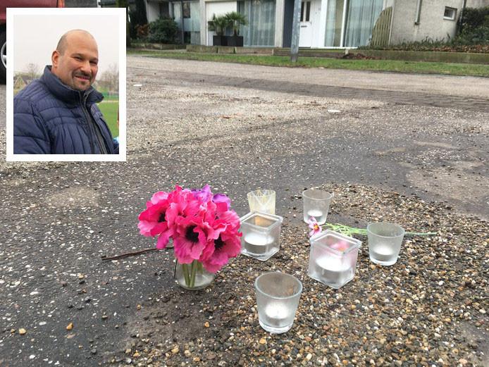 Bloemen op plek van liquidatie Hakan Zatsan