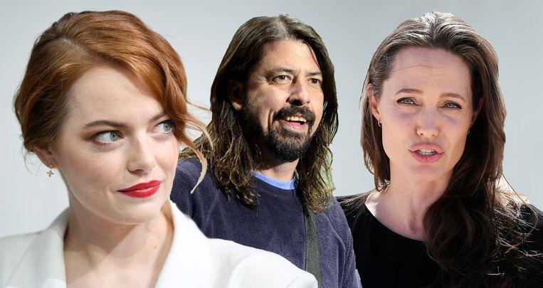 Emma Stone, Dave Grohl en Angelina Jolie