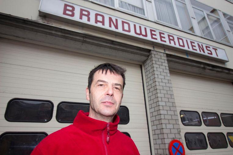 Brandweerman Bart Van Melkebeke.