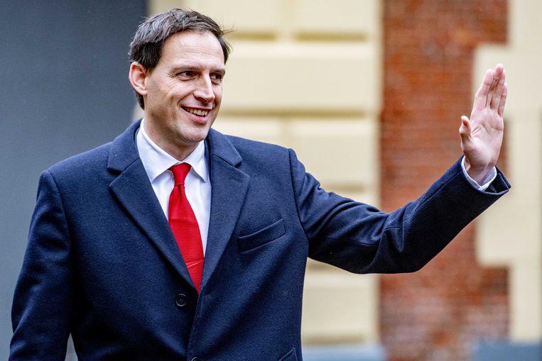 Minister Wopke Hoekstra van Financien (CDA) arriveert op het Binnenhof voor de laatste ministerraad van het jaar.  Beeld ANP/Robin Utrecht