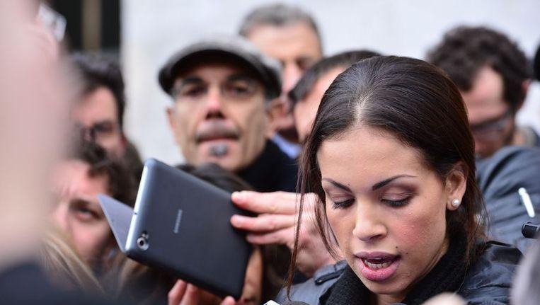 Het voormalige escortmeisje 'Ruby' uit Marokko Beeld afp