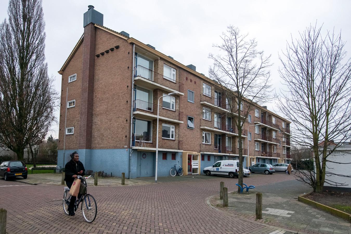 Een portiekflat aan de Buxtudehudestraat in Holtenbroek.