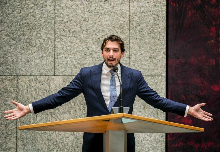 Thierry Baudet (FvD) in de Tweede Kamer. Beeld ANP