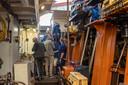 De machinekamer van de Dockyard III maakt indruk op bezoekers.