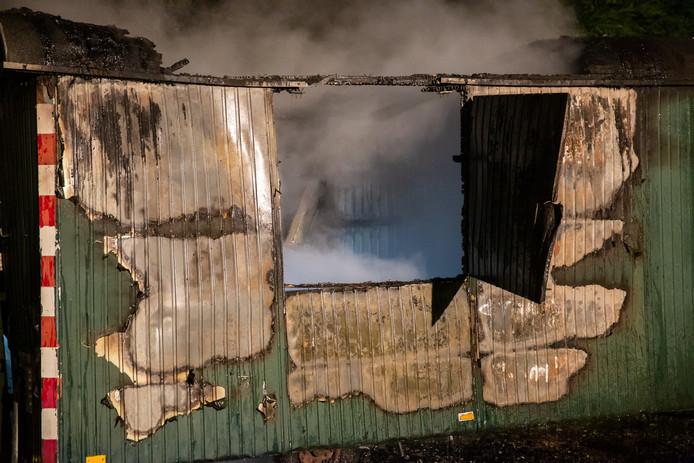Brand bouwkeet tennisvereniging in Roosendaal.