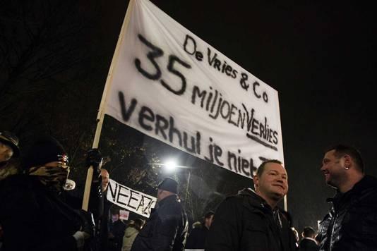 Inwoners van Geldermalsen waren niet blij met de komst van 1500 asielzoekers.