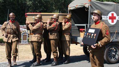 Vier Belgische WO I-soldaten eervol begraven