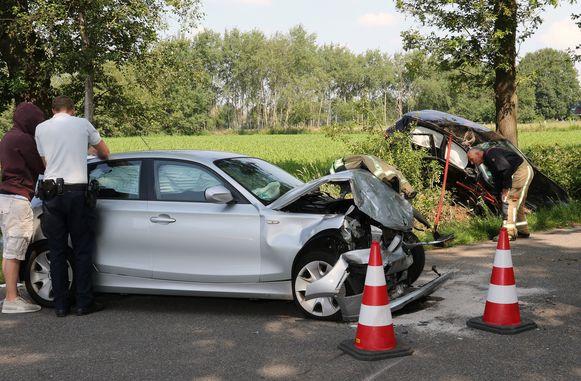 Het ongeval gebeurde nadat de voorrang van rechts genegeerd werd.
