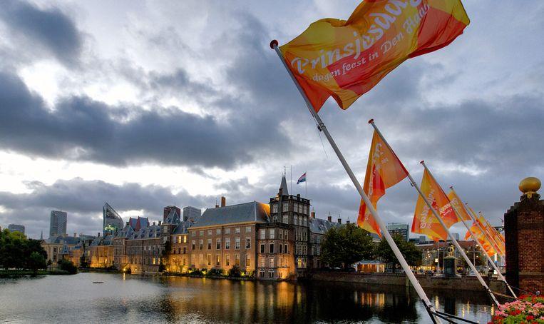 Het Binnenhof in de vroege ochtend van Prinsjesdag. Beeld anp