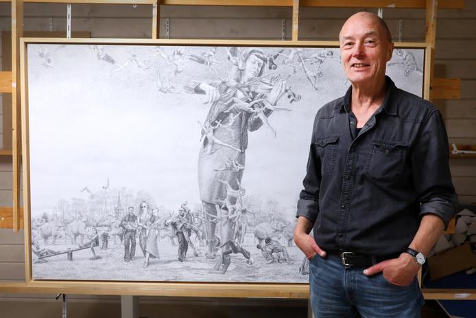 Sven Hoekstra, bij een van zijn andere werken.