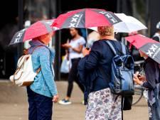 Golven neerslag en onweer trekken over Amsterdam