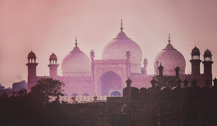 De Badshahi Moskee in Lahore, Pakistan.