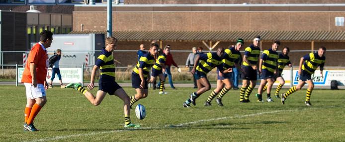 De rugbyers van RC Betuwe in bemmel (archieffoto).