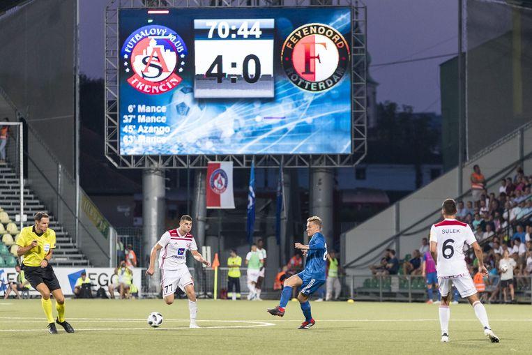 Feyenoord verliest in de voorronde van de Europa League van AS Trencin, met 4-0 Beeld ANP