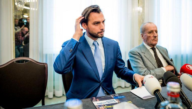 Thierry Baudet en Theo Hiddema van Forum voor Democratie. Beeld Freek van den Bergh