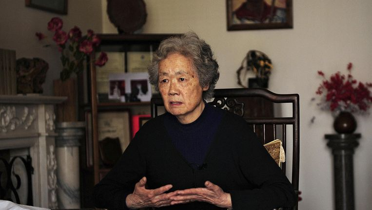 Ding Zilin in 2009: 'Vertrekken uit China zou verraad zijn aan de Tiananmen-moeders en mijn Zoon.' Beeld Peter Parks / AFP