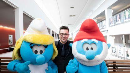 """""""Ik wil Smurfin wel eens smurfen"""": studenten Hogeschool PXL onder de indruk van blauw bezoek"""