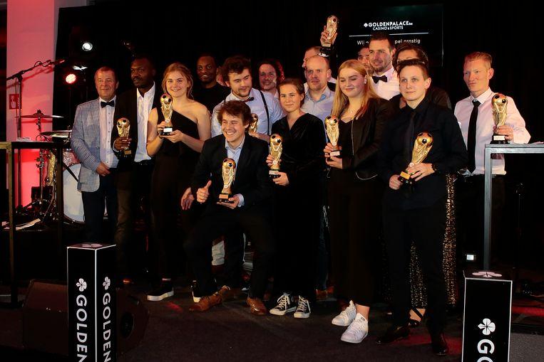 De winnaars van de Antwerpse Golden Palace Ball-editie.